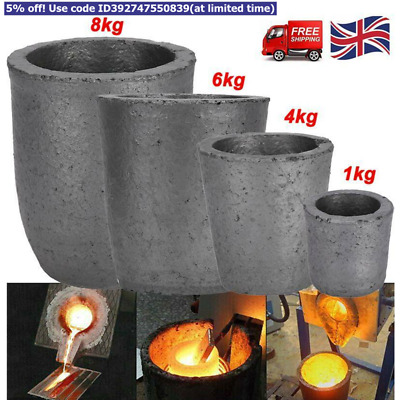 Graphite Furnace Casting Foundry Crucible Ingot Tool Graphite Crucible 6/8 Kg UK • 18.98£