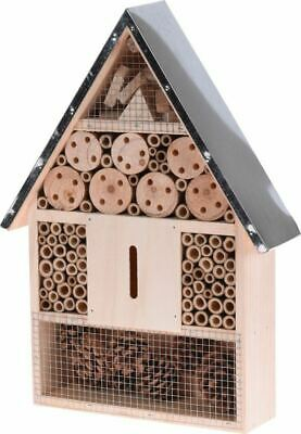 £15.95 • Buy NEW Large/Medium Wooden Hanging Insect/Bug Hotel Metal Roof Bees Ladybirds House