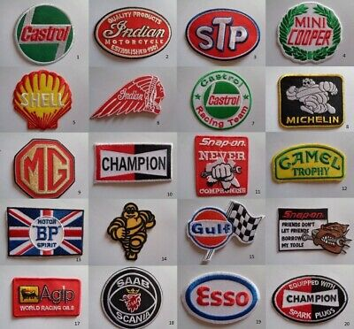 £2.49 • Buy Motor Sport Patch Iron On Or Sew On Patches Motorcycle Mechanic Overall Patches