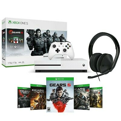 $299.90 • Buy XBOX ONE S 1TB Console GEARS 5 Bundle PLUS Xbox One Stereo Headset