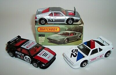 $9.95 • Buy Three  Matchbox  Superfast Mb-52 Bmw M1 Silver White Black Mib