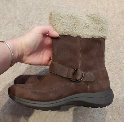 Ladies CLARKS Wave Walk Brown Real Leather Winter.Size 4D Uk_ EU 37. New.  • 36.95£