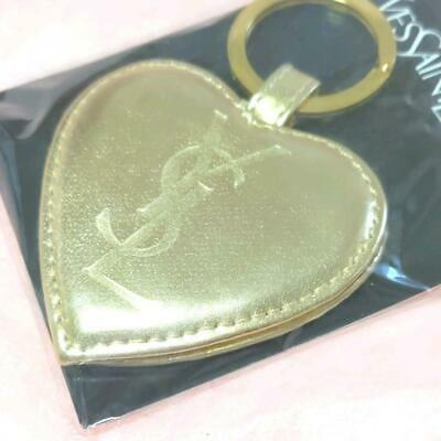 £39.74 • Buy Yves Saint Laurent  YSL Gold Heart Charm Mirror Key Chain Holder 2.5