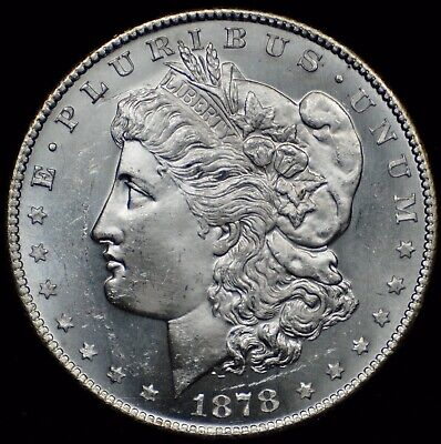$42 • Buy Selling Entire Collection. 1878-s Morgan Silver Dollar. Gem Proof-like Pl! Nores