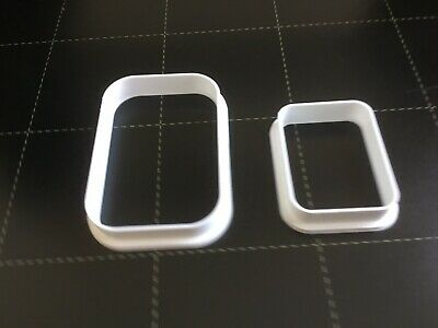 Set Of 2 Polymer Clay Cutters - Jewellery Making Rectangle Rounded • 3.50£