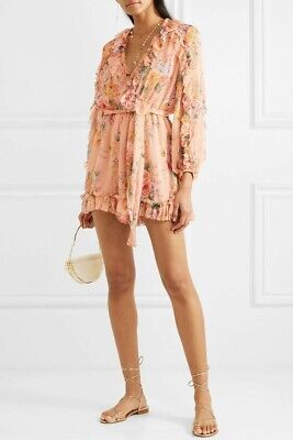 $141.31 • Buy Zimmermann 'Zinnia Plunge Ruffle Playsuit' RRP$595 Size 2 WORN ONCE