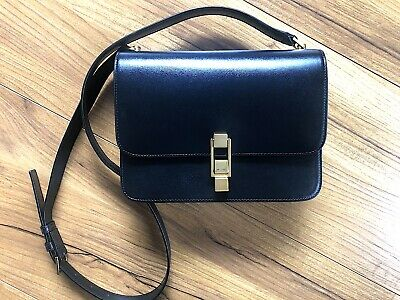 AU670 • Buy AUTHENTIC Saint Laurent YSL CARRE Satchel Bag In Smooth Leather