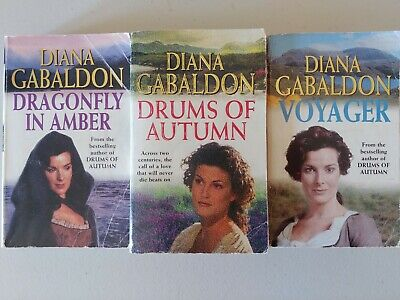 AU24 • Buy Outlander Books X 3 Diana Gabaldon Dragonfly In Amber, Drums Of Autumn , Voyager
