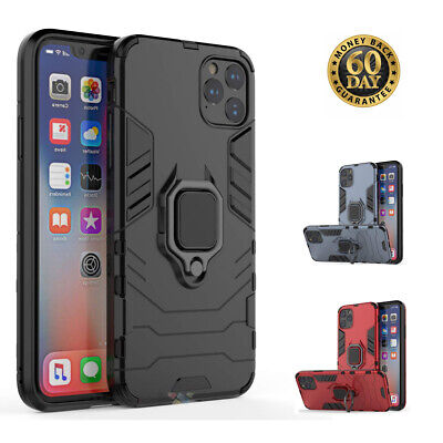 AU8.99 • Buy IPhone 11 Case With Ring Holder Kickstand Cover Rugged TPU Protective