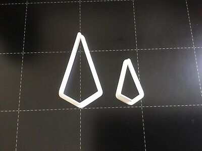 Set Of 2 Polymer Clay Cutters - Jewellery Making Tall Triangle • 3.50£