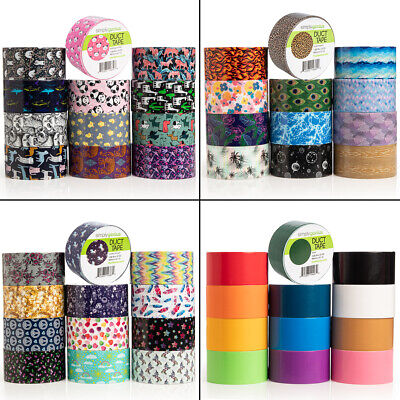 $36 • Buy 12pk Simply Genius Duct Tape Colored Patterned Designs Arts Crafts Supplies Bulk