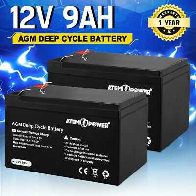 AU69.95 • Buy 2X 9AH AGM Battery AMP Lead Acid SLA Deep Cycle Battery Dual Solar Power