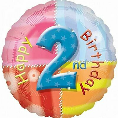 AU6.50 • Buy Happy 2nd Party Supplies Birthday Foil Balloon 45cm