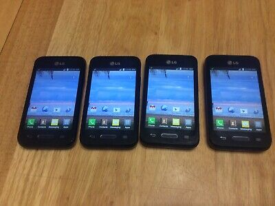 $ CDN88.45 • Buy Lot Of 4 LG Optimus LGL34C Black Android 4.4 8GB Smartphone/Cell Phone