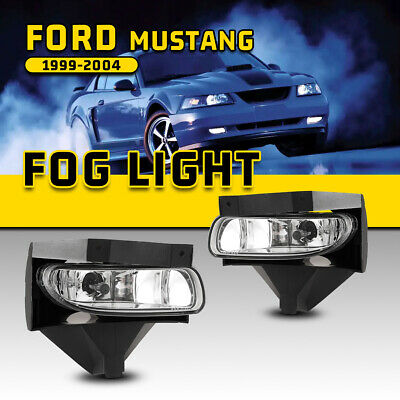 $26.71 • Buy Fits 99-04 Ford Mustang Fog Lights Clear Bumper Driving Lamp Replacement 1 Pair