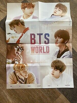$2.99 • Buy BTS World Album OST Folded Poster Official Authentic