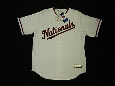 $40 • Buy Official Washington Nationals 2019 Limited Edition White Cool Base Jersey Small