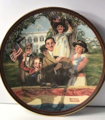 $ CDN16.10 • Buy Edwin Knowles Our Love Of Country Norman Rockwell Authentic Plate #163583