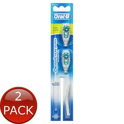 AU34.13 • Buy 2 X ORAL-B CROSSACTION DUAL CLEAN ELECTRIC TOOTHBRUSH REPLACEMENT HEADS 2 PACK