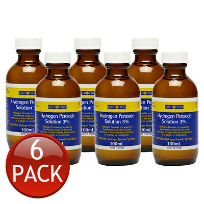AU33.94 • Buy 6 X GOLD CROSS HYDROGEN PEROXIDE 3% ORAL GARGLE MOUTHWASH WOUND CLEANSING 100mL