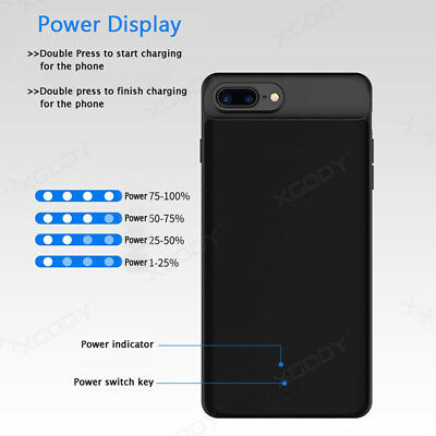 AU33.89 • Buy Ultra Thin External Battery Case Power Case Charging Cover For IPhone 6 7 8 Plus