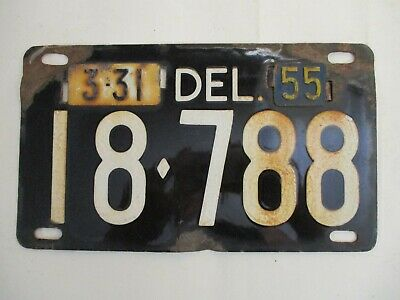 $ CDN133.33 • Buy 1955  Delaware PORCELAIN  License Plate Tag