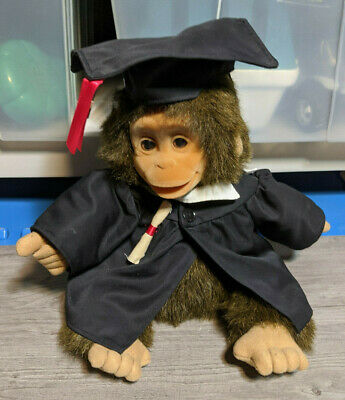 $ CDN46.60 • Buy Hosung 12  Vintage Graduation Gown Baby Monkey, 1994 Plush Puppet Stuffed Animal