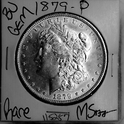 $1.04 • Buy 1879 GEM Morgan Silver Dollar #115257 BU MS+++ UNC Coin Free Shipping