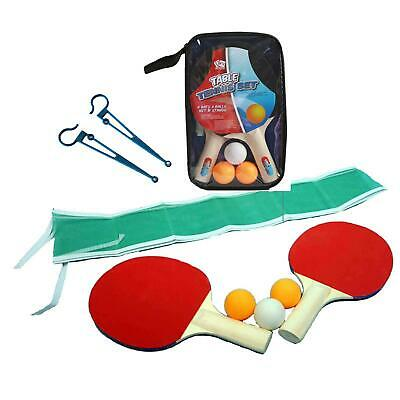 Instant Portable Travel Table Top Tennis Ping Pong Balls Bats Net Fits Any Table • 7.95£