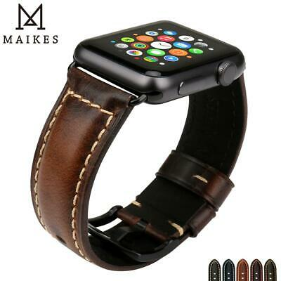 $ CDN30.56 • Buy MAIKES Watch Accessories For Apple Watch Band 44mm 42mm Greasedleather