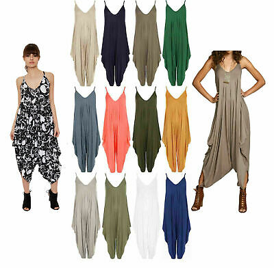 Ladies Cami Harem Jumpsuit Lagenlook Romper All In One Womens Hareem Playsuit • 9.99£