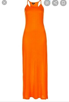 Topshop Orange Strapy Cami Maxi Dress Size 6 Great Condition🔥 • 5£