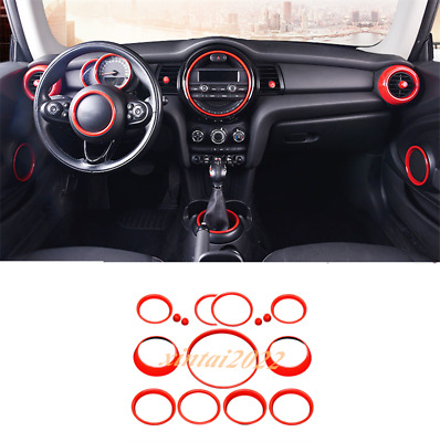 AU283.69 • Buy 15PCS Red ABS Car Interior Kit Ring Cover Trim For BMW Mini Cooper F55 F56
