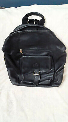 AU170.30 • Buy Vintage 80's - 90's Coach All Leather Backpack Bag Guaranteed Authentic Nice