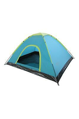 AU77.99 • Buy Mountain Warehouse Festival Fun 4 Man Tent - Water Resistant Sleeping Tent -For