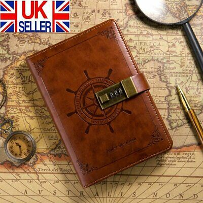 £14.98 • Buy Newest Notebook With Lock Diary Retro Password Book Diary Journal Lockable UK