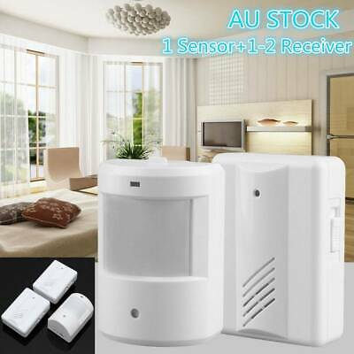 AU18.99 • Buy Wireless Motion Sensor Detector Gate Entry Door Bell Welcome Chime Alert Alarm A