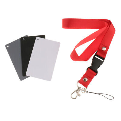 3 In 1 Grey Card White Balance Cards 18% Exposure Photography Calibration Card • 3.48£