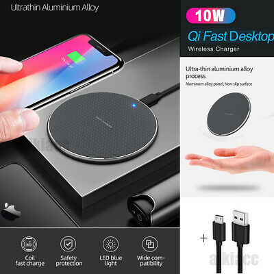 AU14.88 • Buy Qi Wireless Fast Charger Charging Pad For APPLE IPhone 11 Pro XS Samsung S9 S10