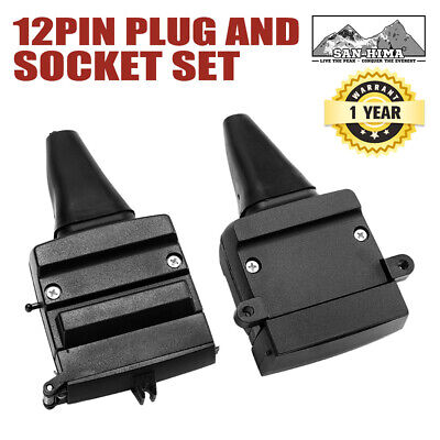 AU14.95 • Buy 12 Pin Flat Adaptor Trailer Socket Plug Set Connector Trailer Caravan Camper