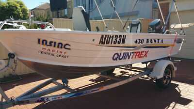 AU11450 • Buy 2016 420 Quintrex Busta Fishing Boat Mercury 30 HP Outboard Telwater Trailer