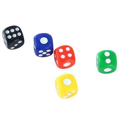 AU11.74 • Buy 100pcs 6 Sided Game Dice Point Cubes Round Corner Party Kid Toys Game Dices
