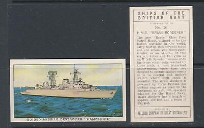 TRADE CARDS Kelloggs 1962 Ships Of The British Navy - Complete Set • 3.25£
