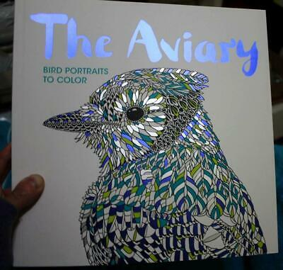 £9.45 • Buy Adult Coloring Book  *THE AVIARY*  Bird Portraits To Color  Brand New  Paperback