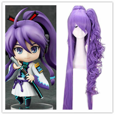 $25.99 • Buy Anime VOCALOID Gakupo 120cm Long Purple Cosplay Ponytail Full Hair Wig
