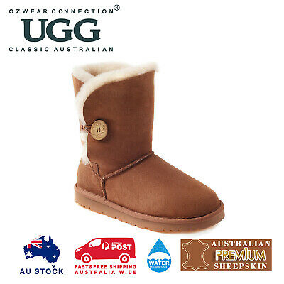 AU49 • Buy OZWEAR UGG Button Boots (Water Resistants) 3 Colours OB013