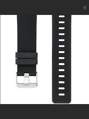 $ CDN60 • Buy Posh Tech Silicone Band For Fitbit Versa Black Size Large Nwt $40