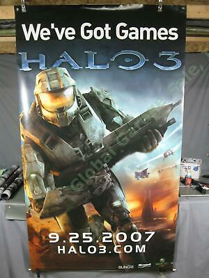 £731.53 • Buy HUGE RARE Halo 3 Master Chief Xbox Video Game Original Store Promo Poster Banner