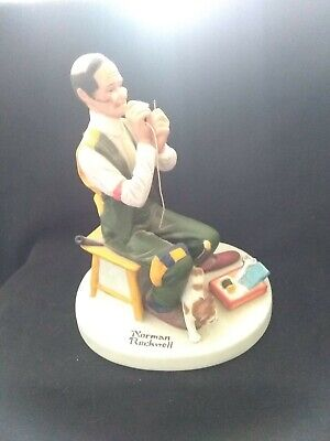 $ CDN22.36 • Buy Norman Rockwell Figurines Danbury Mint 1980 Man Threading A Needle