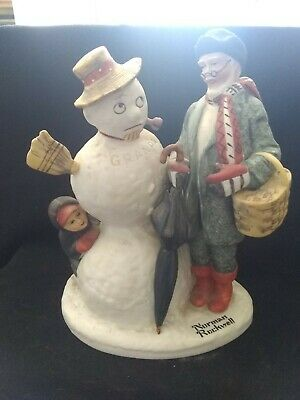 $ CDN19.57 • Buy Norman Rockwell Figurines Danbury Mint 1980 Grandpa Snowman